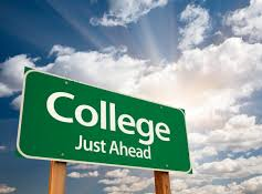 College just ahead image