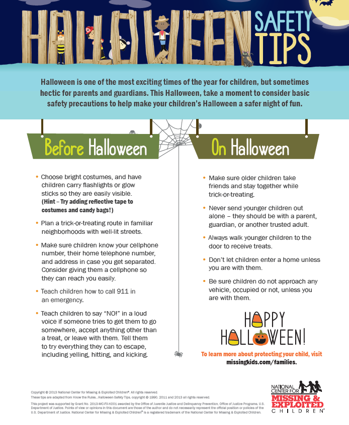 Below are some statistics and safety tips to make sure parents and children can both have a fun, safe Halloween.